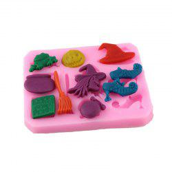 Silicone Witch Over Embossing Cake Sugar Mold -