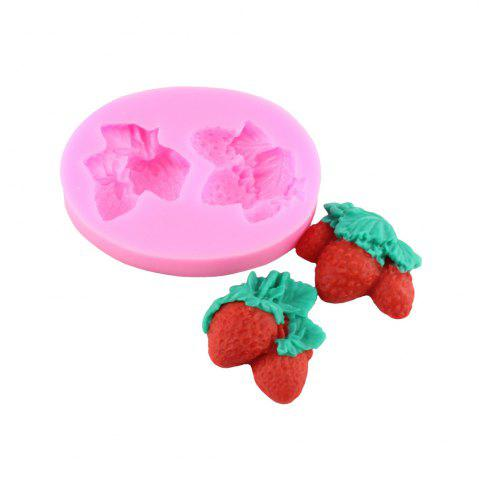Chic Strawberry Silicone Cake Fondant Mold