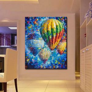 Hand painted Abstract Palette Knife Oil Painting on Canvas Hot Air Balloon Wall Picture Living Room Home Wall Decor -