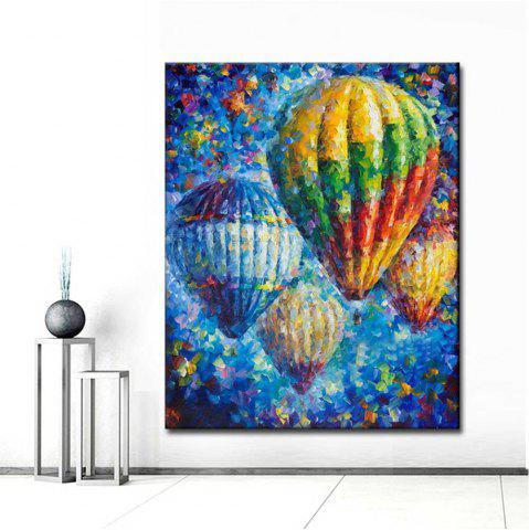 Latest Hand painted Abstract Palette Knife Oil Painting on Canvas Hot Air Balloon Wall Picture Living Room Home Wall Decor