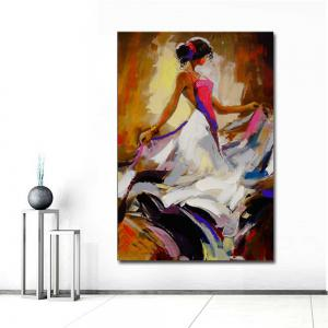 Hand Painted Abstract Figure Art Canvas Painting Dancer Oil Painting Wall Decoration -