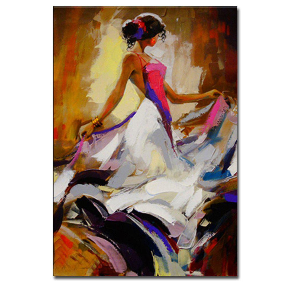 Affordable Hand Painted Abstract Figure Art Canvas Painting Dancer Oil Painting Wall Decoration