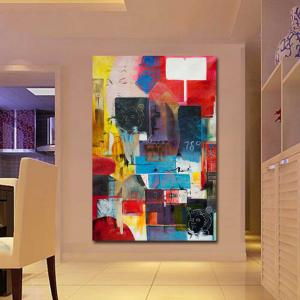 Hand Painted Modern Abstract Design Wall Oil Painting Wall Decoation Frameless -