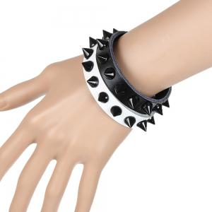 Europe and The United States Non-Mainstream Fashion Black Tip Nail Bracelet -