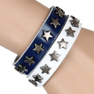 Europe and The United States Non-Mainstream Wild Five-Pointed Star Leather Bracelet -