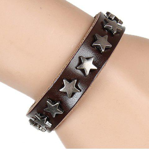 Latest Europe and The United States Non-Mainstream Wild Five-Pointed Star Leather Bracelet