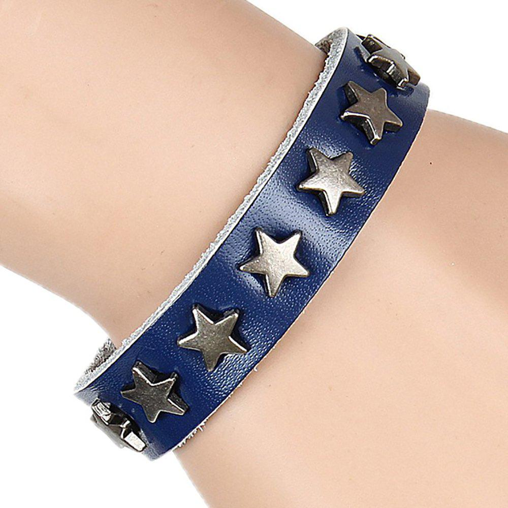 Cheap Europe and The United States Non-Mainstream Wild Five-Pointed Star Leather Bracelet