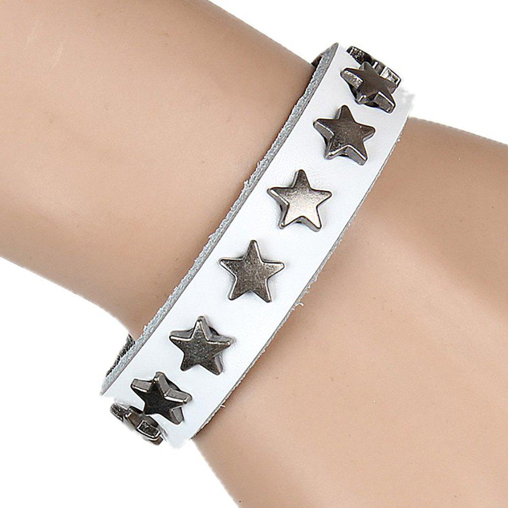 Outfits Europe and The United States Non-Mainstream Wild Five-Pointed Star Leather Bracelet