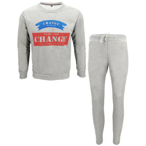 Fashion Men Fall Hoodies Leisure Sport Suit Trousers