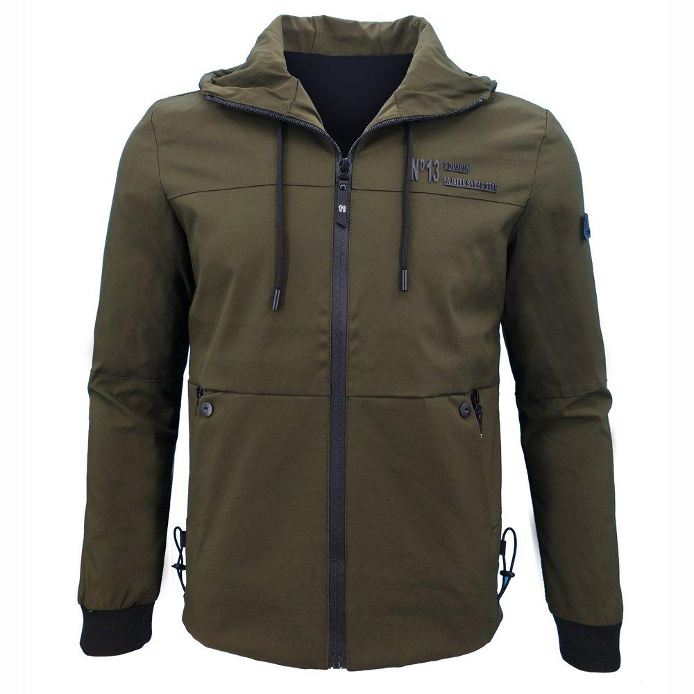 Discount Autumn Leisure Time Hooded Jacket Loose Coat