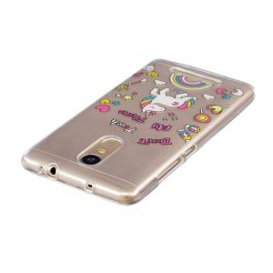 for Xiaomi Redmi Note3 Unicorn Pattern Painted High Penetration TPU Material IMD Process Soft Case Phone Case -