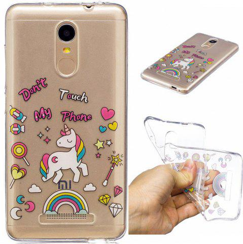 Discount for Xiaomi Redmi Note3 Unicorn Pattern Painted High Penetration TPU Material IMD Process Soft Case Phone Case