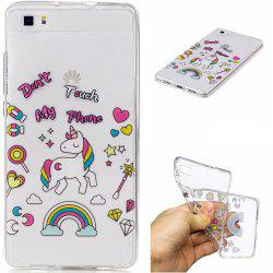 for Huawei P8 lite Unicorn Pattern Painted High Penetration TPU Material IMD Process Soft Case Phone Case -