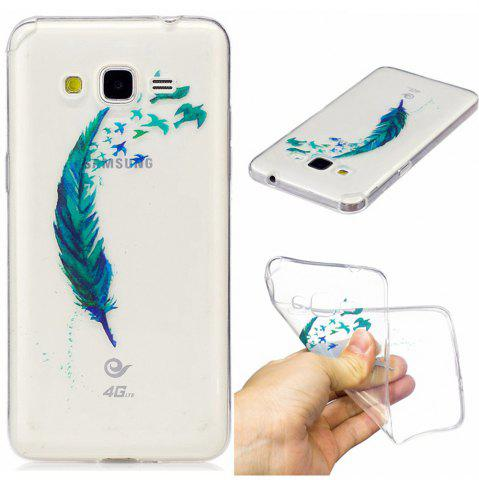 Cheap Beautiful blue feathers TPU Soft Case for Samsung Grand Prime G530