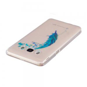 Beautiful blue feathers TPU Soft Case for Samsung Galaxy J5 2016 /J510 -