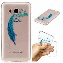 Beautiful blue feathers TPU Soft Case for Samsung Galaxy J7 2016 -