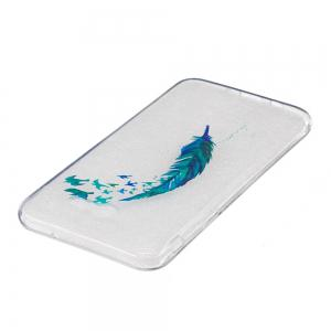 Beautiful blue feathers TPU Soft Case for Samsung Galaxy J720 -