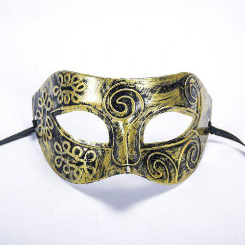 Fashion Ancient Roman Ball Mask Halloween Gold Silver Bronze Mask Classic Man Half Face Flat Carved PVC