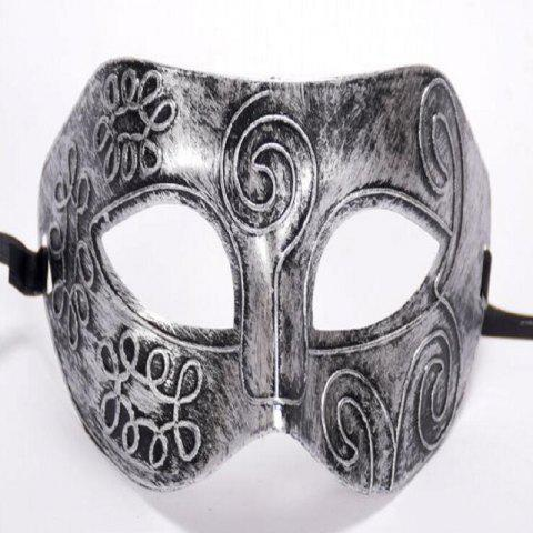 Cheap Ancient Roman Ball Mask Halloween Gold Silver Bronze Mask Classic Man Half Face Flat Carved PVC