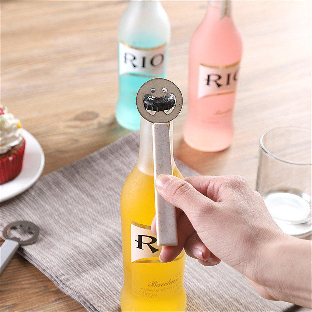 Best Cute Smiling Face Beer Opener Bottle Portable Stainless Steel Kitchen Gadgets Tools Can For Kids Gifts