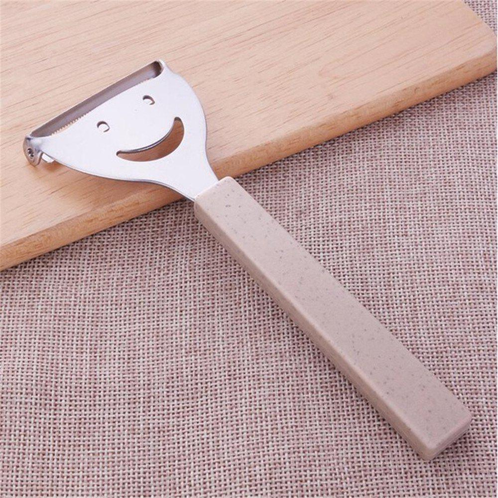 Outfit Cute Mini Stainless Steel Fruit Vegetable Potato Peeler Smiling Face Slicer Cutter Kitchen Accessories Tools