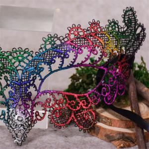 Sexy Halloween Colorful Lace Goggles Nightclub Fashion Queen Female Sex Eye Masks for Masquerade Party Ball Mask -