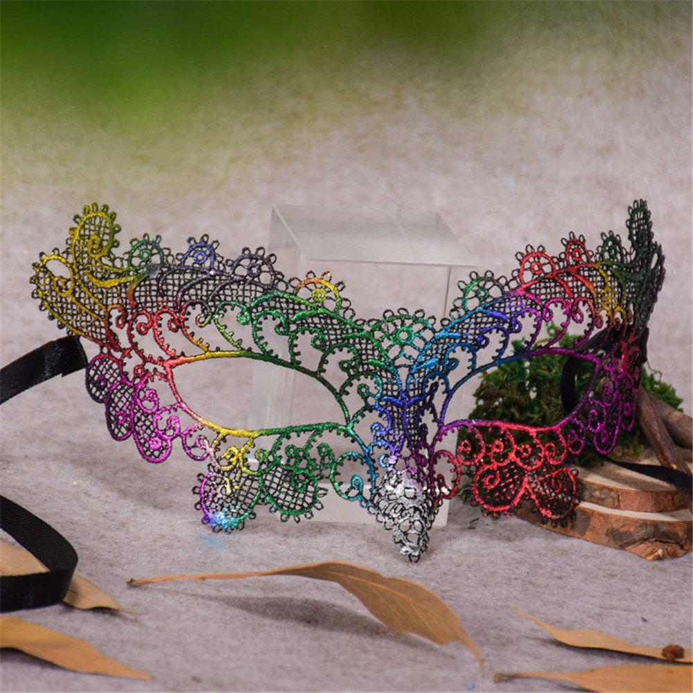 Discount Sexy Halloween Colorful Lace Goggles Nightclub Fashion Queen Female Sex Eye Masks for Masquerade Party Ball Mask