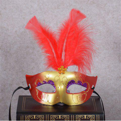 Cheap New Party Masquerade Masks Halloween Christmas Feather Mask Fashion Women Sexy Half Face Masked