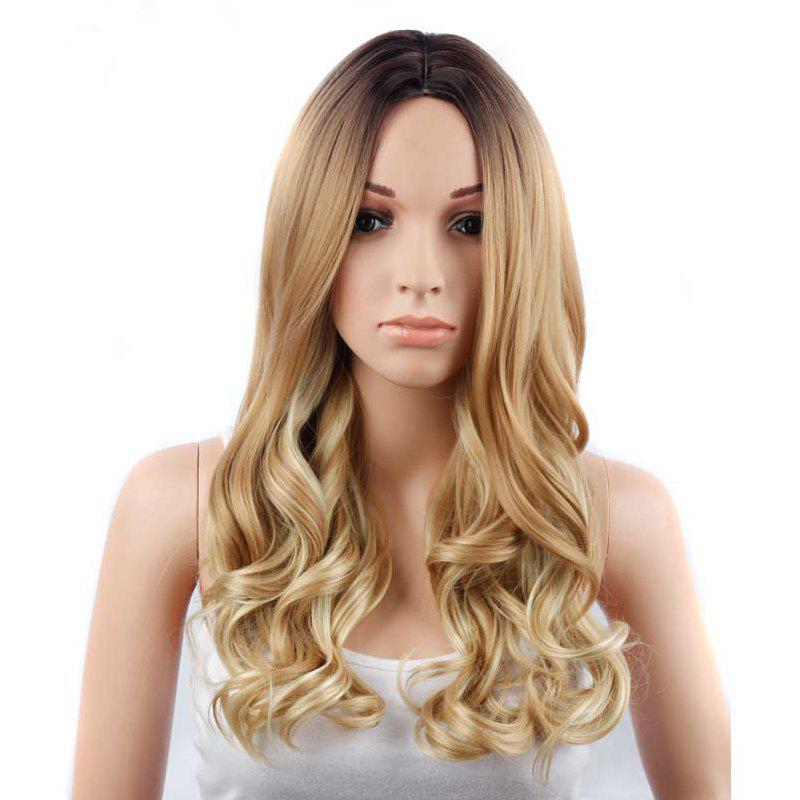 Fancy CHICSHE 26 inch Blonde Ombre Wig Synthetic Long Wavy Natural Hair