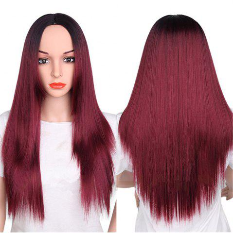 Cheap CHICSHE Synthetic Ombre Red Wigs Long Straight Cosplay Grey Hair Free Shipping