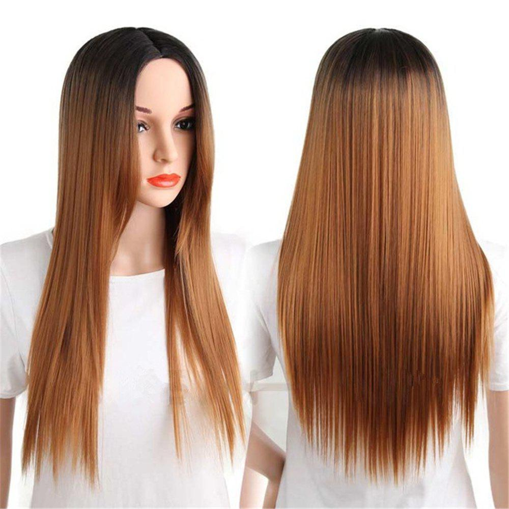 Affordable CHICSHE Synthetic Ombre Red Wigs Long Straight Cosplay Grey Hair Free Shipping