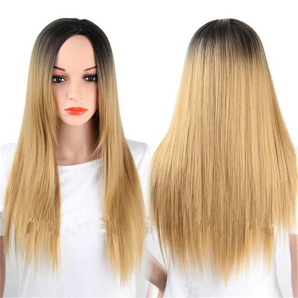 Fashion CHICSHE Synthetic Ombre Red Wigs Long Straight Cosplay Grey Hair Free Shipping