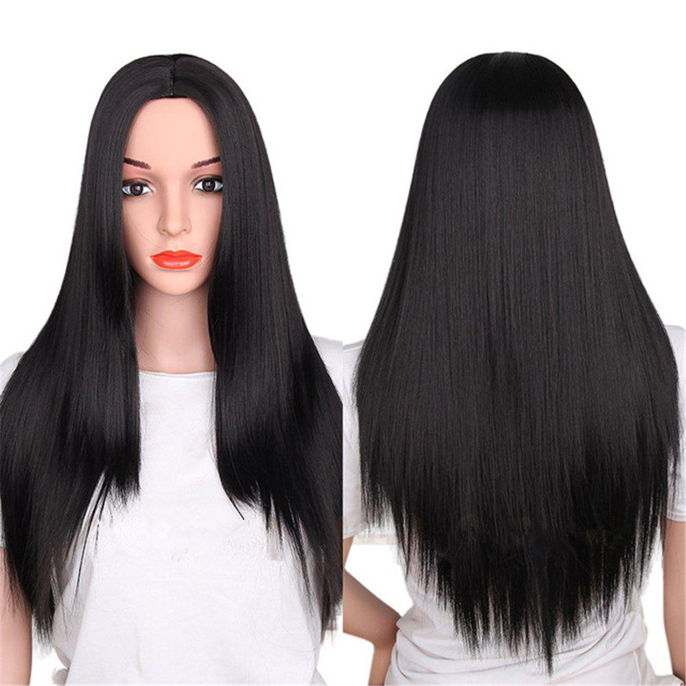 Sale CHICSHE Synthetic Ombre Red Wigs Long Straight Cosplay Grey Hair Free Shipping