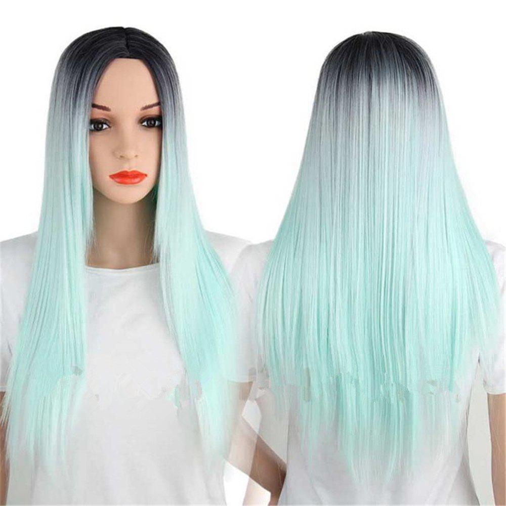 Discount CHICSHE Synthetic Ombre Red Wigs Long Straight Cosplay Grey Hair Free Shipping