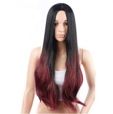 Best CHICSHE Synehetic Long Ombre Wigs for Women Wavy Black Brown Hair