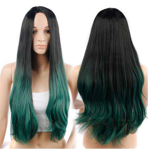 Online CHICSHE Synehetic Long Ombre Wigs for Women Wavy Black Brown Hair