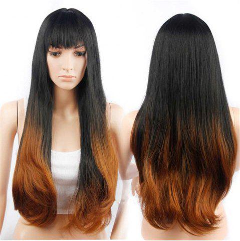 Shop CHICSHE Synehetic Long Ombre Wigs for Women Wavy Black Brown Hair