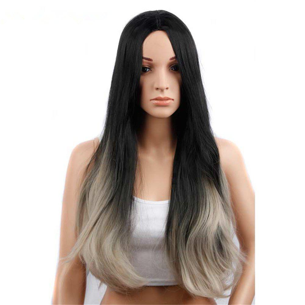 Sale CHICSHE Synehetic Long Ombre Wigs for Women Wavy Black Brown Hair