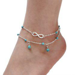 Multi-Layered Fasion Turquoise Anklet -