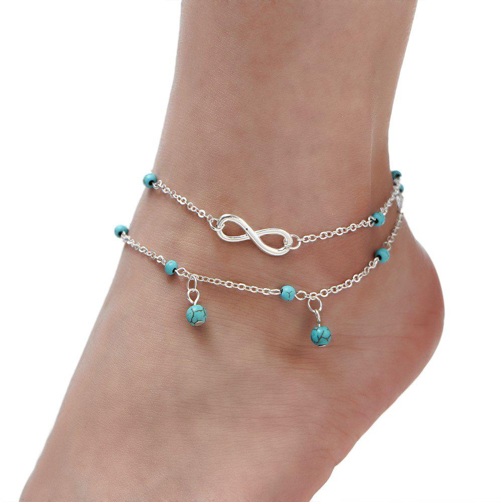 Affordable Multi-Layered Fasion Turquoise Anklet
