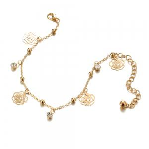 Small Bells Copper Beads Butterfly Anklets -