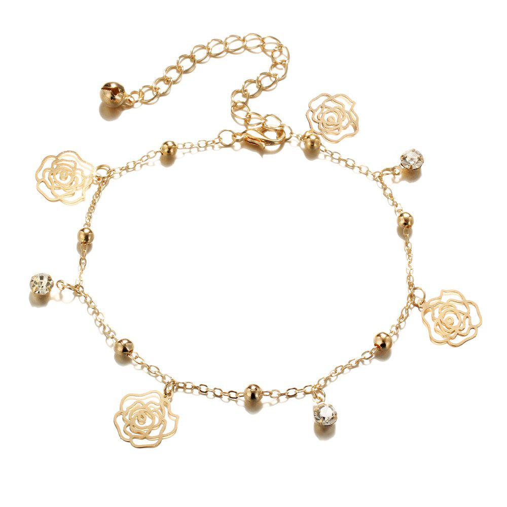 Store Small Bells Copper Beads Butterfly Anklets