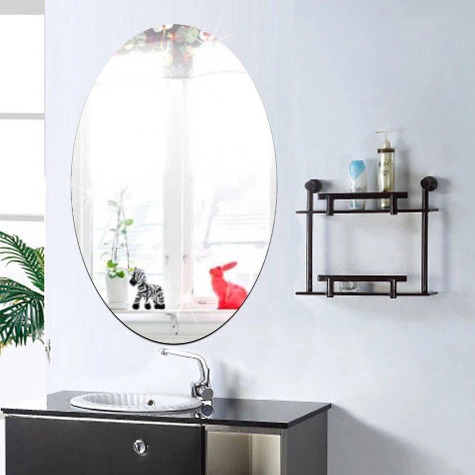 Store Direct Manufacturers 30*60cm Explosion Models of Elliptical Mirror Wall Stickers Home Furnishing Decorative Bathroom Mirror