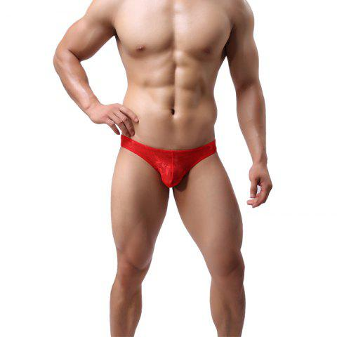 Cheap Lace Men's Underwear U Convex Sexy Low Waist Breathable Fashion