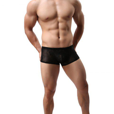 Fashion Lace Men's Underwear Boxer U Convex Sexy Ultra-Thin Quick Dry Hollow Briefs