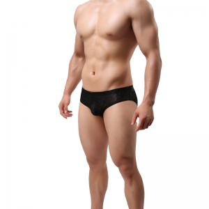 Men Lace Briefs Sexy Low-Waist Panties -