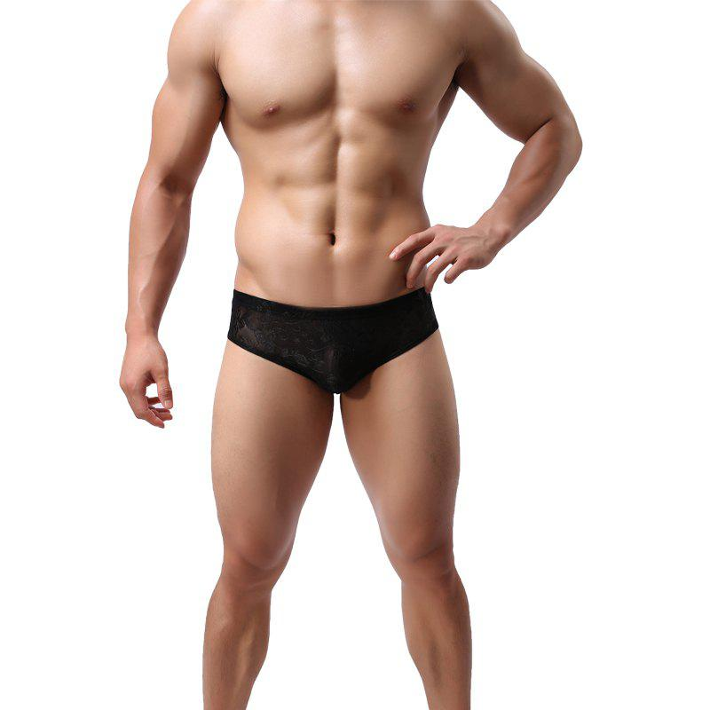 Affordable Men Lace Briefs Sexy Low-Waist Panties