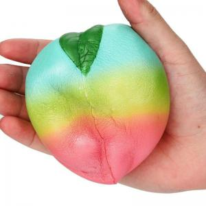 Squishys Slow Rising Soulagement du stress Soft Toys Replica Rainbow Peach -