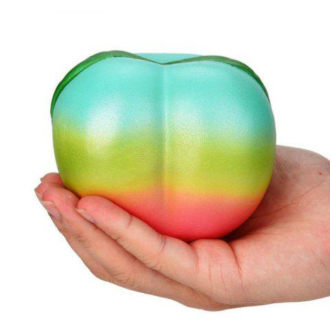 Squishys Slow Rising Soulagement du stress Soft Toys Replica Rainbow Peach