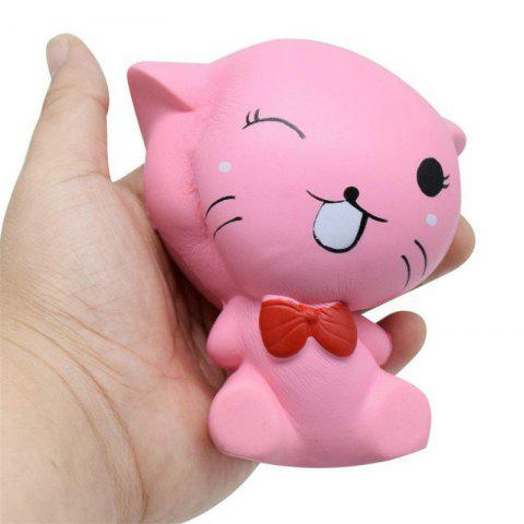 Best Squishys Slow Rising Stress Relief Soft Toys Replica Mini Cute Cat with Tie